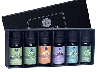 lagunamoon Essential Oils Top 6 Gift Set Pure Essential Oils for Diffuser  Humidifier  Massage  Aromatherapy  Skin   Hair Care