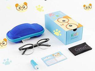 Cyxus Blue light Blocking Glasses for Kids and Teens  Anti Eye Strain Eyewear for Children 100  UV Protection Non Prescription Eyeglasses Boys Girls