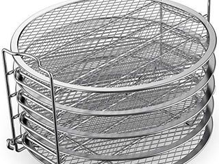USED Dehydrator Rack Stainless Steel Stand Accessories Compatible with Instant Pot Air Fryer Crisp lid 6 Quart  By SiCheer
