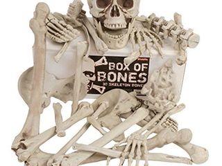 Kangaroo s Box Of Bones  30 Pc Set With Skull  Flexible Jaw  Skeleton Bones