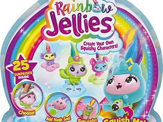 Rainbow Jellies  Creation Kit with 25 Surprises to Make Your Own Squishy Characters