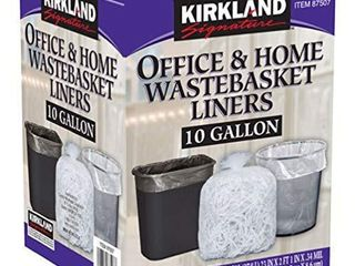 Kirkland Signature 87507 Wastebasket liners  Clear  10 Gallon  500 ct quantity not varified