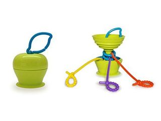 Grapple   Suction Baby Toy Holder 6 Months   Green