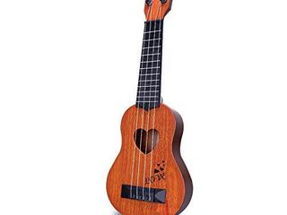 YEZI Kids Toy Classical Ukulele Guitar Musical Instrument  Brown  brown1