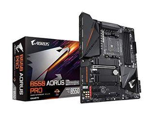 GIGABYTE B550 AORUS PRO  AM4 AMD B550 ATX Dual M 2  SATA 6Gb s USB 3 2 Gen 2 2 5 GbE lAN AlC1220 VB RGB Fusion 2 0 PCIe4 DDR4 Gaming Motherboard