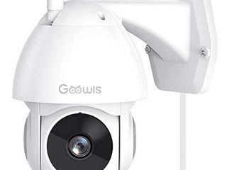 USED Security Camera Outdoor  Goowls 1080P Pan Tilt 2 4G WiFi Home Smart Security Surveillance IP Camera