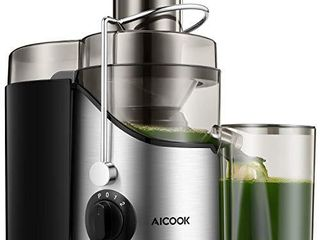 Juicer  Juice Extractor  Aicook Juicer Machine with 3  Wide Mouth  3 Speed Centrifugal Juicer for Fruits and Vegs  with Non Slip Feet  BPA Free