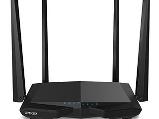 Tenda AC1200 Dual Band WiFi Router  High Speed Wireless Internet Router with Smart App  MU MIMO for Home  AC6 Black