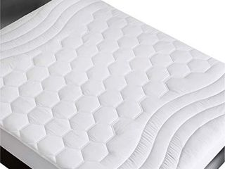 Bedsure Mattress Pad Twin Xl  Twin Extra long Size i1 439x80 inchesi1 4  Quilted Mattress Pad Protector for College Dorm Hospital Deep Pocket up to 18  deep  Fitted Mattress Cover White