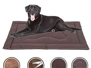 CHEERHUNTING Dog Crate Mat Crate Pad 40  Water Resistant  Machine Washable  large Size Dog Mats for Sleeping  Anti Slip Dog Bed for Crate