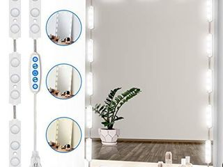 led Vanity Mirror lights  Doubia Charming of Hollywood Style Vanity Mirror lights Kit  Super Bright White light Strip with 5 Color Temperature Control makeup lights for any Mirror Mirror Not Included  NOT INSPECTED