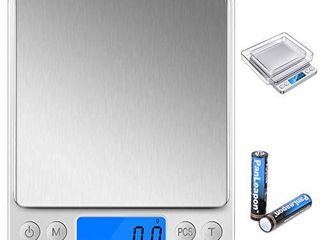 Digital Food Scale 0 1 Gram Accuracy  Stainless Steel Surface