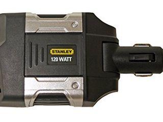 STANlEY PCA120 Power Inverter 120W Car Converter  12V DC to 120V AC Power Outlet with USB Port