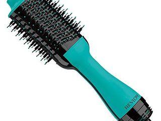 REVlON One Step Hair Dryer And Volumizer Hot Air Brush  Turquoise
