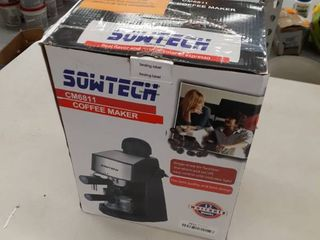 Espresso Machine 3 5 Bar 4 Cup Espresso Maker Cappuccino Machine with Steam Milk Frother