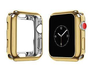 top4cus Environmental Soft Flexible TPU Anti Scratch lightweight Protective 40mm Iwatch Case Compatible with Apple Watch Series 5 Series 4 Series 3 Series 2 Series 1   Gold