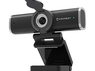 Amcrest 1080P Webcam with Microphone for Desktop  Web Cam Computer Camera  Streaming HD USB Web Camera for laptop   PC with Privacy Cover  Wide Angle lens  Superior low light  AWC195 B