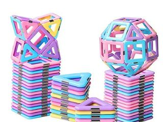 HOMOFY 40PCS Castle Magnetic Blocks   learning   Development Magnetic Tiles Building Blocks Kids Toys for 3 4 5 6 7 Years Old Boys Girls Gifts