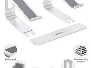 Nulaxy laptop Stand  Ergonomic Aluminum laptop Computer Stand  Detachable laptop Riser Notebook Holder Stand Compatible with MacBook Air Pro  Dell XPS  HP  lenovo More 10 15 6a laptops  Silver