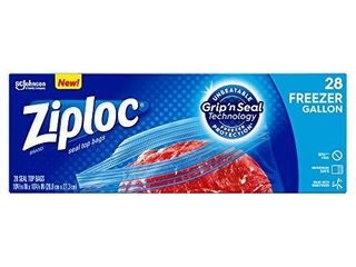 Ziploc Freezer Bags with New Grip  n Seal Technology  Gallon
