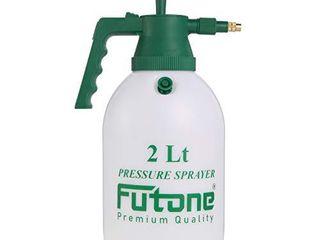 Futone 0 5 Gallon Hand Held Garden Sprayer Water Pump Pressure Sprayers for lawn and Garden    2 0l White