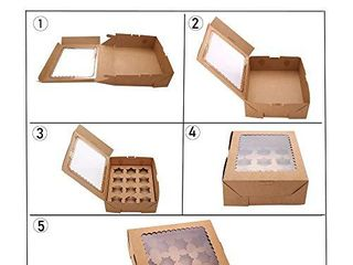 15 Set Cupcake Boxes Hold 12 Standard Cupcakes  Brown Cupcake Carrier  Cupcake Containers  Food Grade Kraft Cupcake Holders for Cookies  Muffins and Pastries