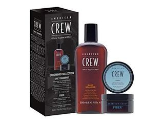 USED AMERICAN CREW Fiber and Daily Shampoo Men s Gift Set  3 oz