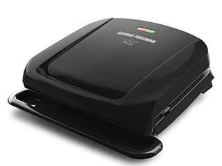 George Foreman 4 Serving Removable Plate Grill and Panini Press  Black  GRP1060B