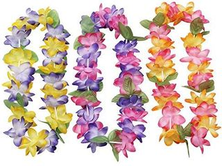 Mahalo Floral leis   Package of 12 by Oojami AMOUNT unknown not COUNTED