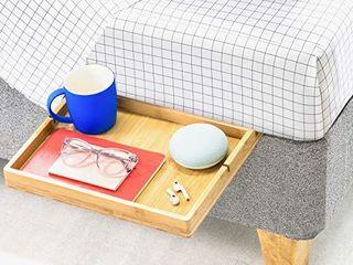 BedShelfie The Original Bedside Shelf for Bed and Bunk Bed Shelf  Slide Style  Natural Bamboo Color