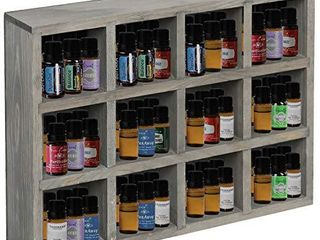 12 Compartment Dark Gray Wood Freestanding or Wall Mounted Shadow Box  Display Shelf Shelving Unit