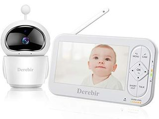 Video Baby Monitor with Camera 5  HD Display Baby Monitor 720P Wireless Night Vision Dual View Video One Click Zoom Talk Back  Temperature   Sound Alarm lullabies Up to 960ft Range