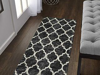 lahome Moroccan Area Rug   2  X 4  Faux Wool Non Slip Area Rug