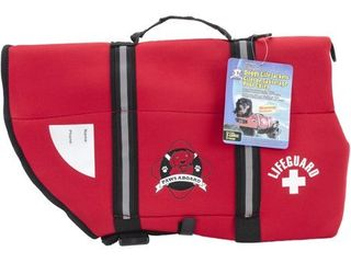 USED Paws Aboard Neoprene Doggy life Jacket Extra large Red