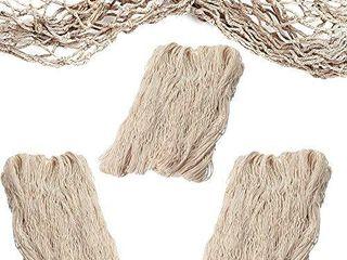 Fish Net Decorative  3 Pack  Natural Cotton Decorative Fishing Net
