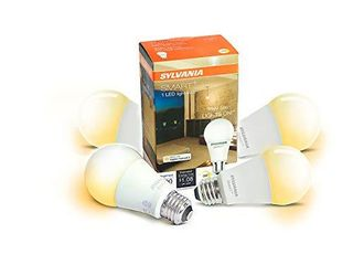 Sylvania 75579 Smart  Bluetooth Apple HomeKit Enabled Soft White Dimmable A19 lED Bulb  60 Watt Equivalent  4 Pack