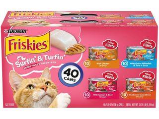 Purina Friskies Prime Filets Surfin    Turfin  Favorites Wet Cat Food   5 5oz 40ct Variety Pack
