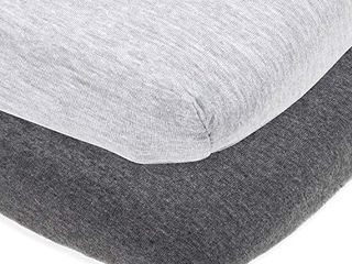 Cradle Sheets Fitted 18 x 36 a Snuggly Soft Jersey Cotton a White a 2 Pack