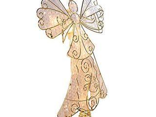 Kurt Adler Ul 10 light Metal Reflector Angel Christmas Treetop Figurine  10 Inch