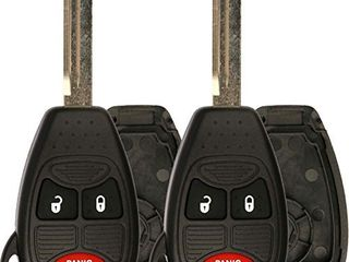 KeylessOption Just the Case Keyless Entry Remote Control Car Key Fob Shell Replacement for OHT692427AA  Pack of 2