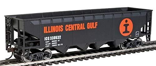 Walthers Trainline Offset Hopper  Orange  Black  White  large logo  HO Scale