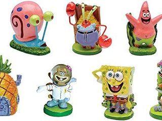 SpongeBob SquarePantsAr 2  Aquarium Ornaments  7 Piece Set