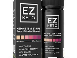Easy Keto Ketone Testing Strips for Urinalysis with Free App and EZ Keto Start Guide   150 Test Sticks Measure Ketones  Test if you are in Ketosis  Perfect for Ketogenic low Carb Paleo   Atkins diets