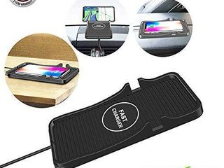 qi car Wireless Charger pad   qi car Charger Fast Wireless Charging Charger pad Wireless car Charger Mount Phone Holder Charging Stand s9s8note8  C7