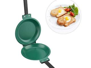 Double Side Pan  Non stick Ceramic Flip Frying Pan Pancake Maker Household Kitchen Cookware USED