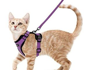 rabbitgoo Cat Harness and leash for Walking  Escape Proof Soft Adjustable Vest Harnesses for Cats  Easy Control Breathable Reflective Strips Jacket  Purple  XS Chest  13 5 16