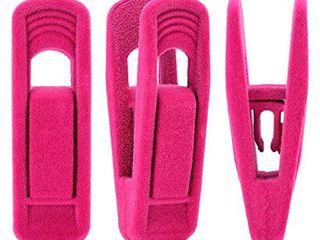 2  Trgowaul Hot Pink Velvet Hangers Clips  20 pc