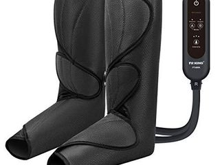 FIT KING leg Air Massager for Circulation and Relaxation Foot and Calf Massage with Handheld Controller 3 Intensities 2 Modes with 2 Extensions  NOT INSPECTED