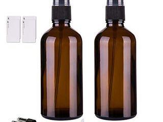 Amber Glass Spray Bottles for Essential Oils  4oz Empty Small Fine Mist Spray Bottle 2 Pack