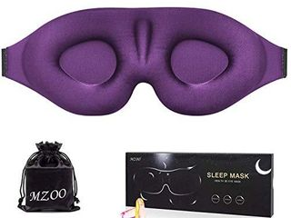 MZOO Sleep Eye Mask for Men Women  3D Contoured Cup Sleeping Mask   Blindfold  Concave Molded Night Sleep Mask  Block Out light  Soft Comfort Eye Shade Cover for Travel Yoga Nap  Purple